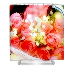 Shower Curtain featuring the photograph Roses Are Red. by Ira Shander