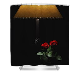 Roses By Lamplight Shower Curtain by Ron White