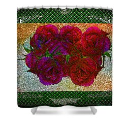 Roses- Featured In Beautiful Roses And Comfortable Art Groups Shower Curtain by EricaMaxine  Price