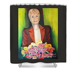 Roses For The Lady Shower Curtain
