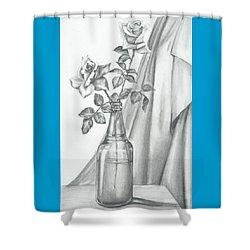 Roses Shower Curtain by Gayatri Ketharaman