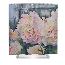 Roses Of Notre Dame Two Shower Curtain
