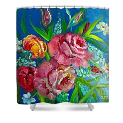 Roses Roses Jenny Lee Discount Shower Curtain