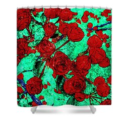 The Red Roses Shower Curtain