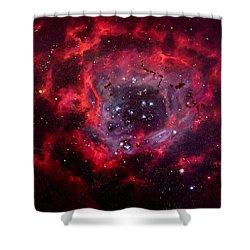 Rosetta Nebula Shower Curtain by Marie Green