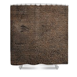 Rosetta Stone Texture Shower Curtain