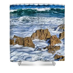Shower Curtain featuring the photograph Ross Witham Beach Stuart Florida by Olga Hamilton