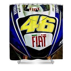 Rossi Yamaha Shower Curtain
