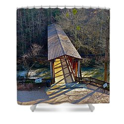 Roswell Covered Bridge Shower Curtain