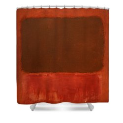 Rothko's Mulberry And Brown Shower Curtain by Cora Wandel