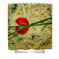 Rotini Alfredo Shower Curtain by Karon Melillo DeVega