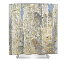 Rouen Cathedral West Facade Shower Curtain by Claude Monet