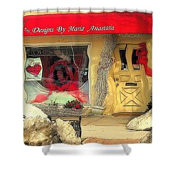 Rouge On The Rue Shower Curtain by Tami Quigley