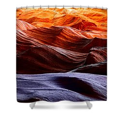 Rough Sea Shower Curtain by Inge Johnsson