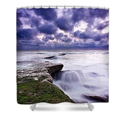 Rough Sea Shower Curtain by Jorge Maia