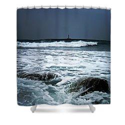 Coastal Storm Shower Curtain