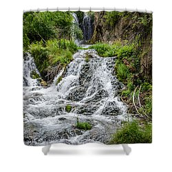 Roughlock Falls South Dakota Shower Curtain