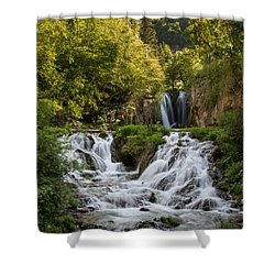 Shower Curtain featuring the photograph Roughlock Falls South Dakota by Patti Deters