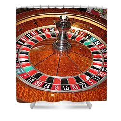Roulette Wheel And Chips Shower Curtain