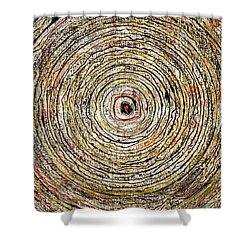 Round And Around Shower Curtain by Carla Sa Fernandes