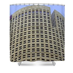 Round Architecture Shower Curtain by Laurie Perry