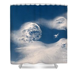 Round Clouds Shower Curtain