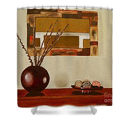 Round Vase Shower Curtain by Laura Forde