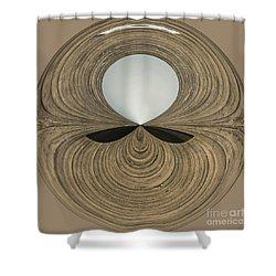 Round Wood Shower Curtain by Anne Gilbert