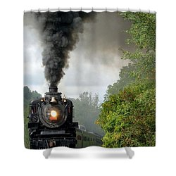 Steamin' In The Valley Shower Curtain
