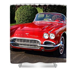 Route 66 - 1961 Corvette Shower Curtain