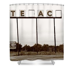 Route 66 - Abandoned Texaco Station Shower Curtain by Frank Romeo