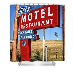 Route 66 - Art's Motel Shower Curtain