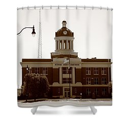 Route 66 - Beckham County Courthouse Shower Curtain