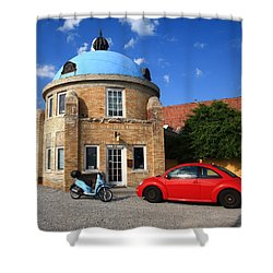 Route 66 - Blue Dome Of Tulsa Shower Curtain