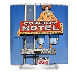 Route 66 - Cowboy Motel Shower Curtain
