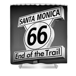 Route 66 Shower Curtain by David Nicholls