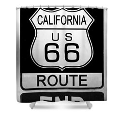 Route 66 End Shower Curtain by Chuck Staley