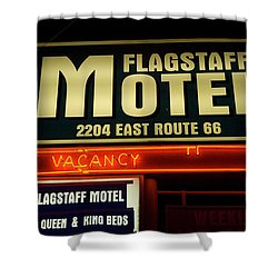 Route 66 Flagstaff Motel Shower Curtain by Bob Christopher