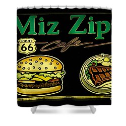 Route 66 Miz Zips Shower Curtain by Bob Christopher