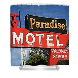 Route 66 - Paradise Motel Shower Curtain by Frank Romeo