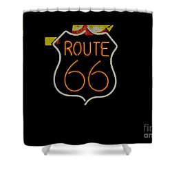 Route 66 Revisited Shower Curtain by Kelly Awad