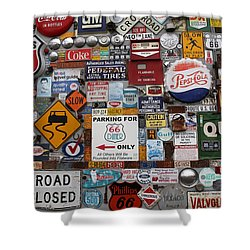 Route 66 Signs Shower Curtain