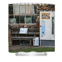Route 66 Sinclair Gas Station Shower Curtain by Frank Romeo