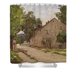 Route De Port-marly, C.1860-67 Shower Curtain by Camille Pissarro