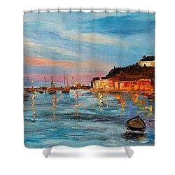 Rovanij Harbour Shower Curtain