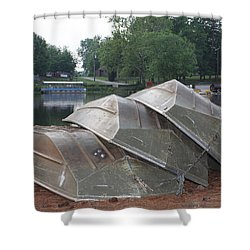 Row Boats Shower Curtain