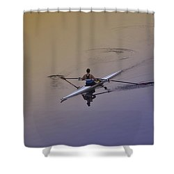 Rower Shower Curtain by Bill Cannon