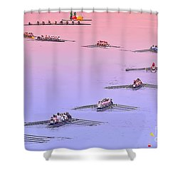 Rowers Arc Shower Curtain
