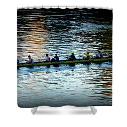 Rowing On The River Shower Curtain by Susan Garren