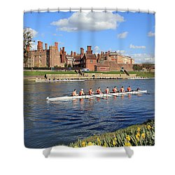 Rowing On The Thames At Hampton Court Shower Curtain